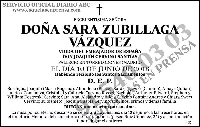 Sara Zubillaga Vázquez